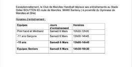 Entrainement 6 mars au Stade Didier BOUTTEN