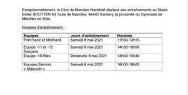 Entrainement 08 et 09 MAI au Stade Didier BOUTTEN